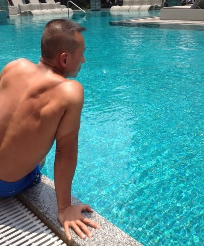 Poolside Contemplation Woon Tai Ho