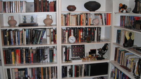 John Oehler bookshelf perfume books