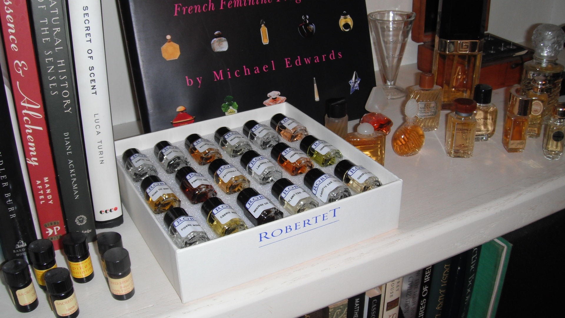 John Oehler bookshelf perfume books oil of anointing Exodus