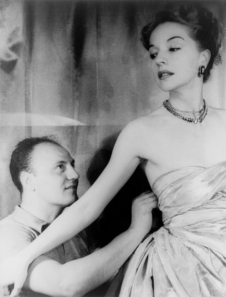 Pierre Balmain & Ruth Ford 1947.  Photo Carl Van Vechten