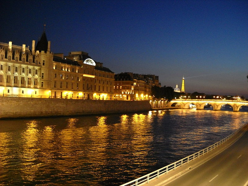 River Seine blue hour
