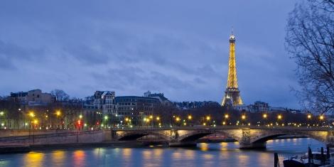 River Seine blue hour L'Heure bleue