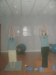 The girls in teen yoga 2011