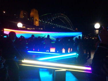 Vivid - Sydney has a lot of great festivals one being Vivid which is a light festival in May/June. There are installations and projections onto iconic sites like the Opera House (see top photo) and Harbour Bridge in this photo. Photo: Matt Lukjanenko