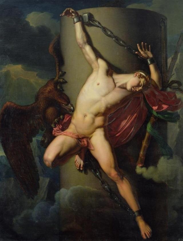 The Torture of Prometheus'' (1819), oil on canvas,  Le Puy-en-Velay, Musée Crozatier. Jean-Louis-Cesar Lair (1781 - 1828),  'El suplicio de Prometeo''