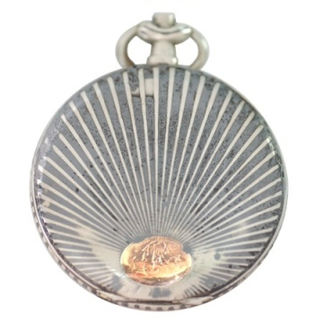 A Rare Antique Sterling French Niello Case with Rose Gold Sunburst is an option for the Cuir de Gardenia wax solid perfume. Other options are here.