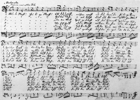 Original score of Stille Nacht photographer by Mezzofortist.