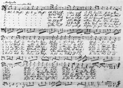Original score of Stille Nacht photographer by Mezzofortist.