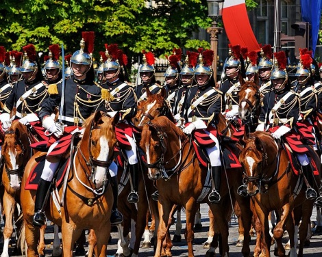 The Cavalry Regiment of the Republican Guard  Le régiment de cavalerie de la Garde Républicaine  Photo: Marie-Lan Nguyen