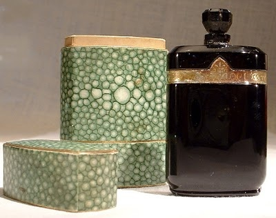 Vintage Nuit de Noel with shargreen case. Image via Perfume Shrine