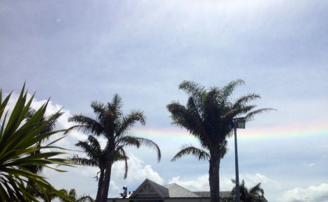 This horizontal rainbow has a scientific name: Fire Rainbow.